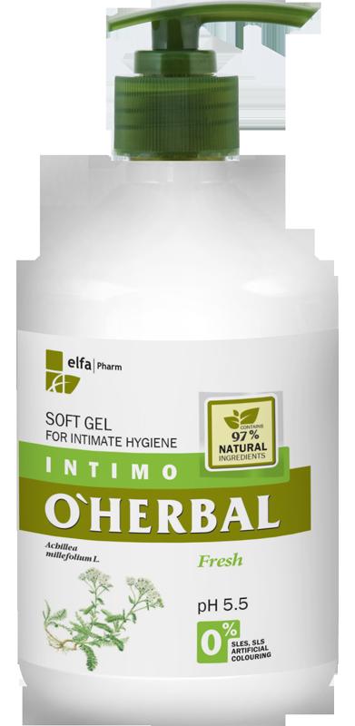 O'HERBAL Soft Gel - gel pro intimní hygienu s extraktem řebříčku, 500 ml