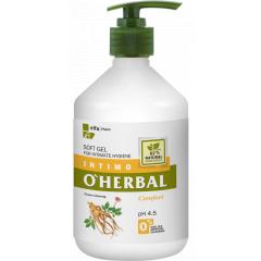 O'HERBAL Soft Gel - gel pro intimní hygienu s extraktem ženšenu, 500 ml