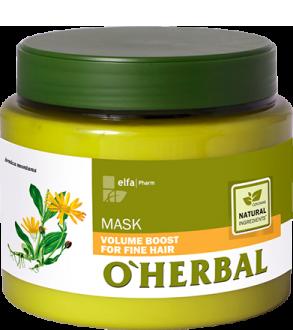 O'HERBAL Volume Boost - maska pro zvětšení objemu vlasů, 500 ml