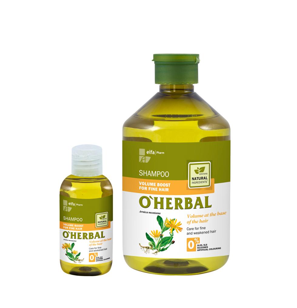 O'HERBAL Volume Boost - šampon pro zvětšení objemu vlasů