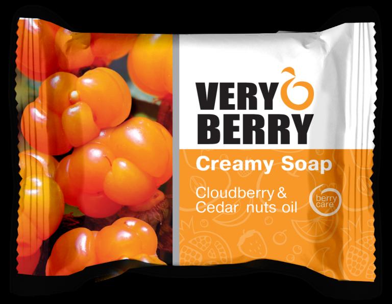Very Berry Cloudberry & Cedar nuts oil - krémové mydlo, 100 g