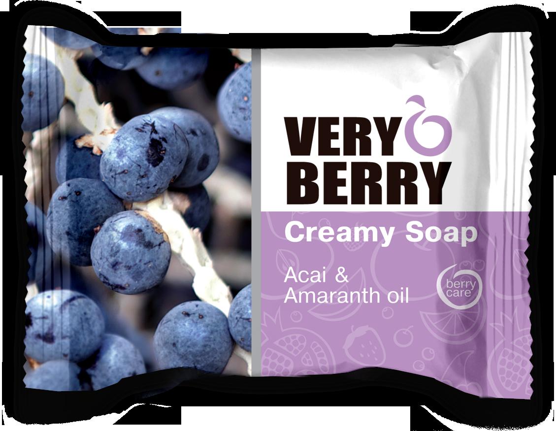 Very Berry Acai & Amaranth oil - krémové mydlo, 100 g