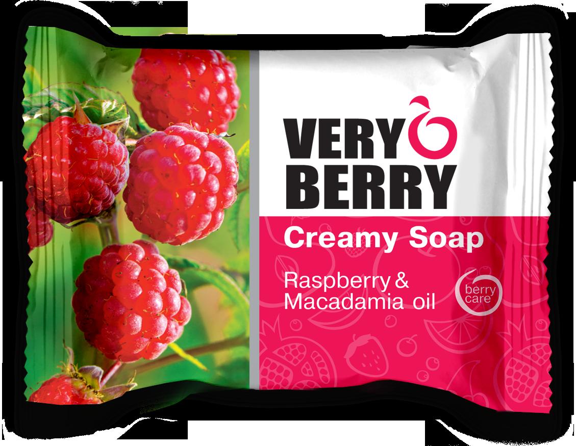 Very Berry Raspberry & Macadamia oil - krémové mydlo, 100 g