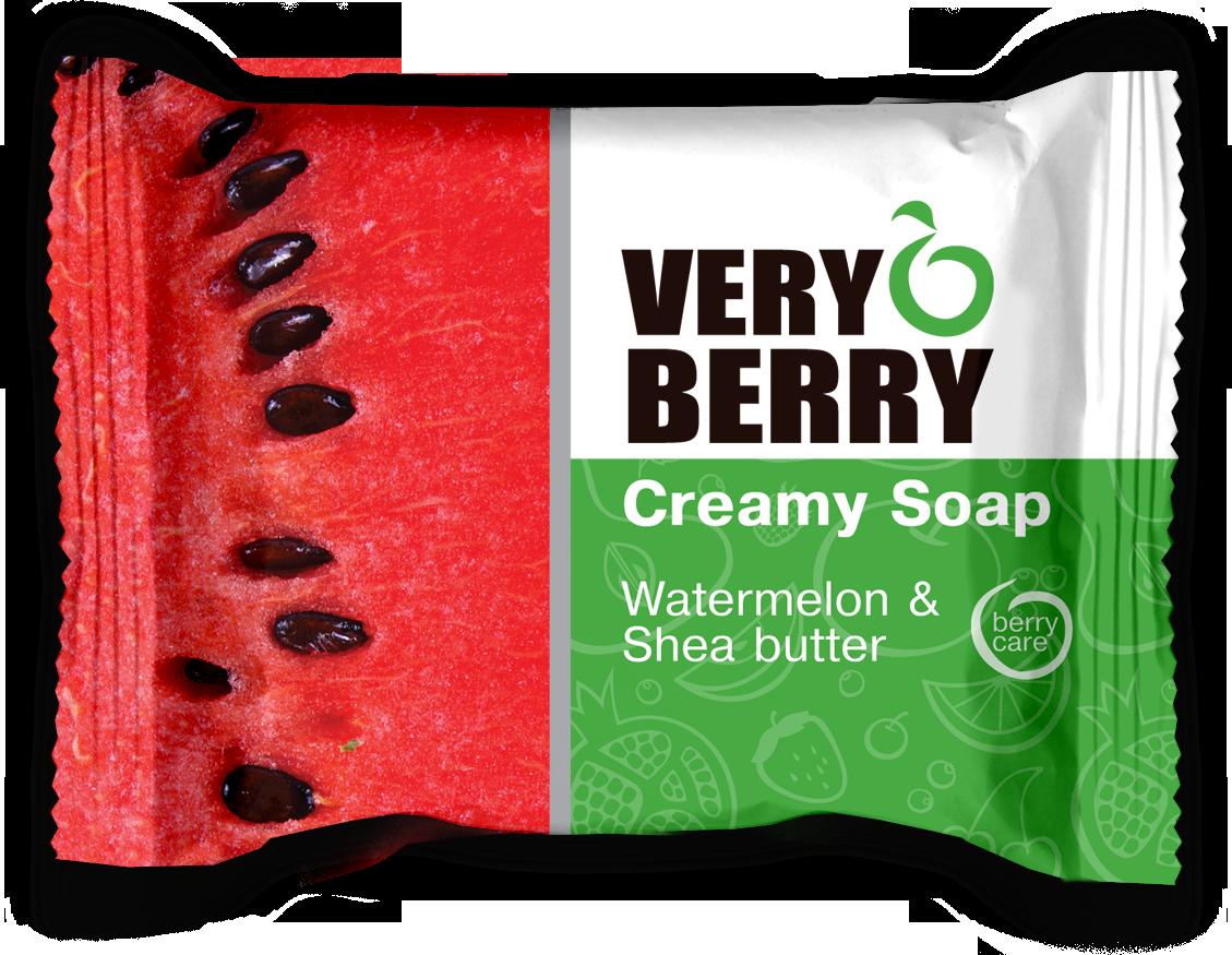 Very Berry Watermelon & Shea butter - krémové mydlo, 100 g
