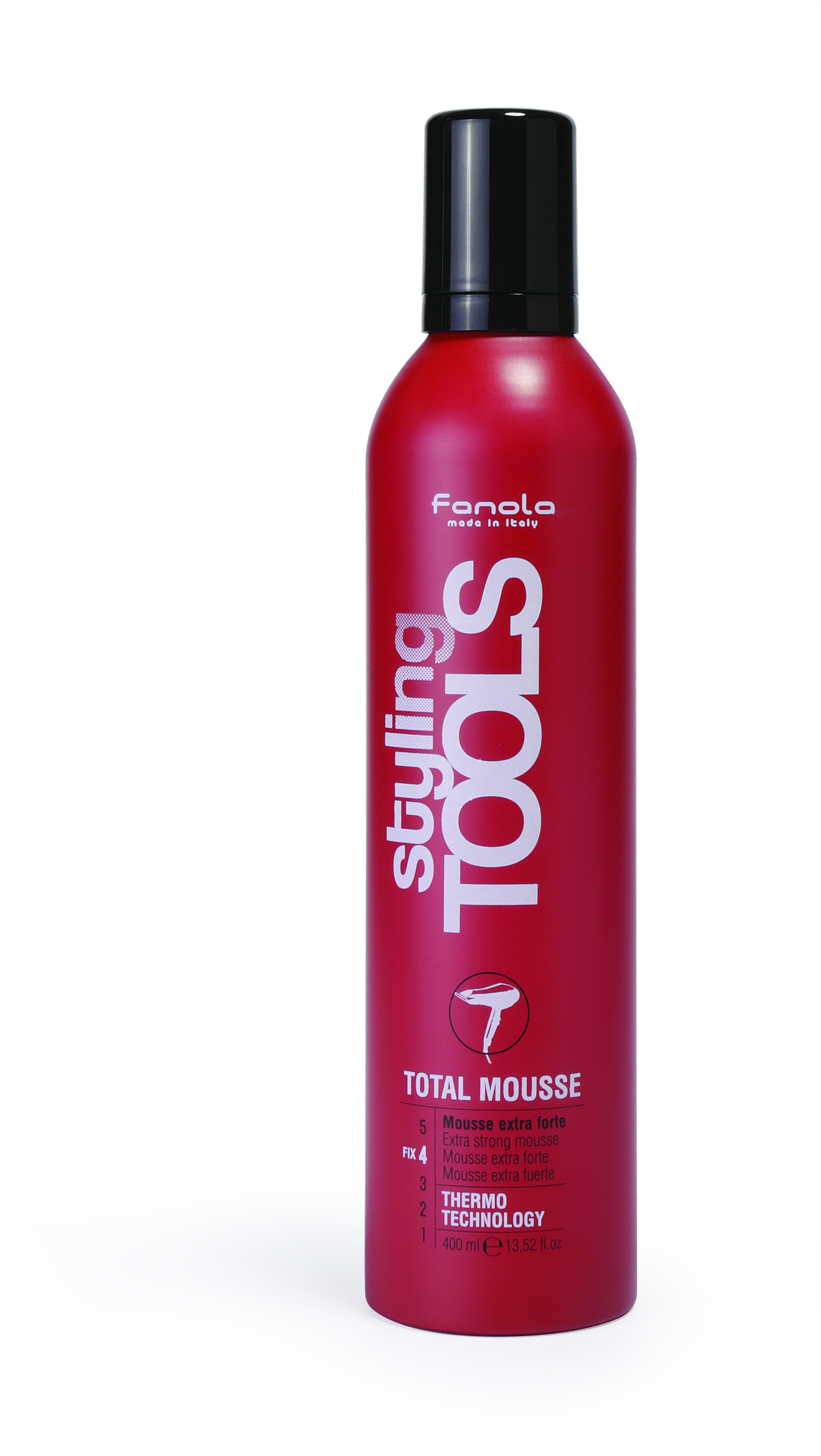 Fanola Styling Tools Total Mousse - penové tužidlo extra silné, 400 ml
