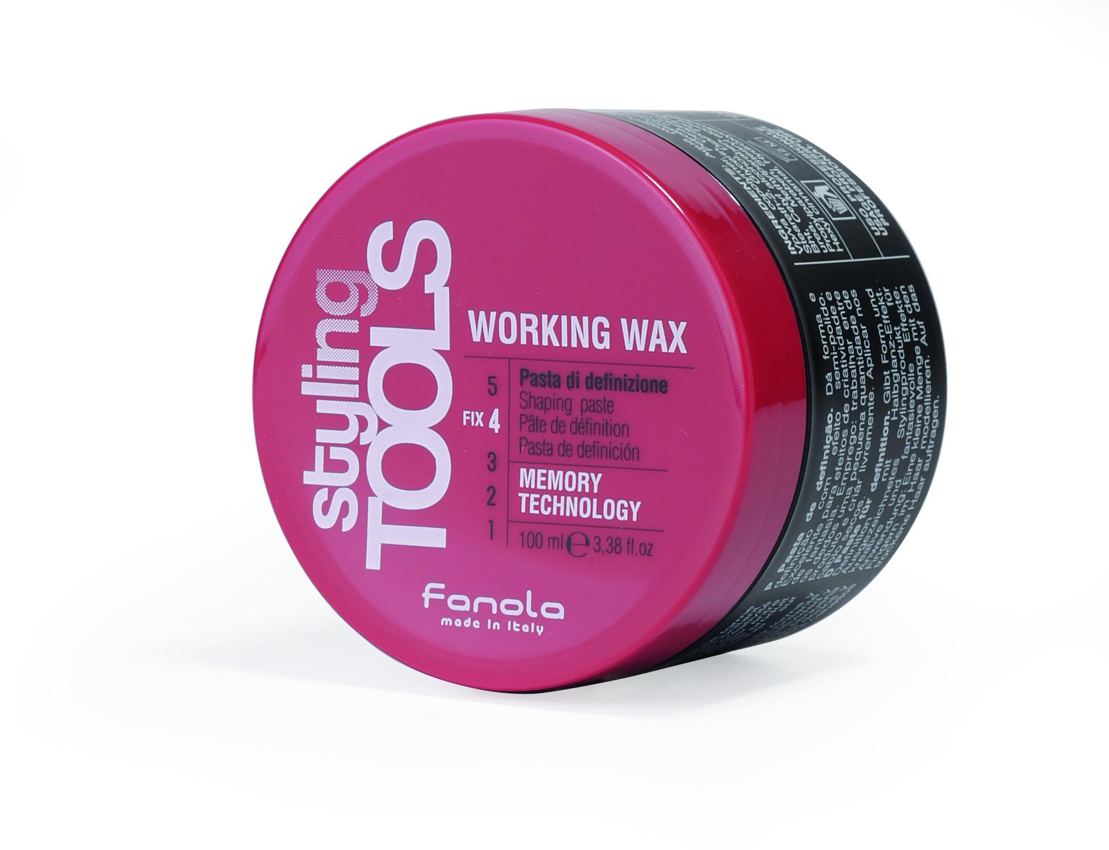 Fanola Styling Tools Working wax - pasta stredne fixačná lesk, 100 ml