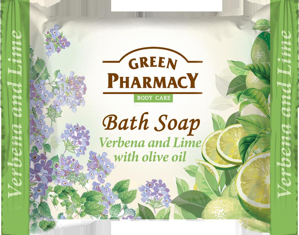 Green Pharmacy Verbena lime with olive oil -  toaletné mydlo s verbenou, limetkou a olivovým olejom, 100g