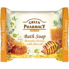 Green Pharmacy Manuka Honey - toaletní mydlo s manukou medom a olivovým olejem, 100 g