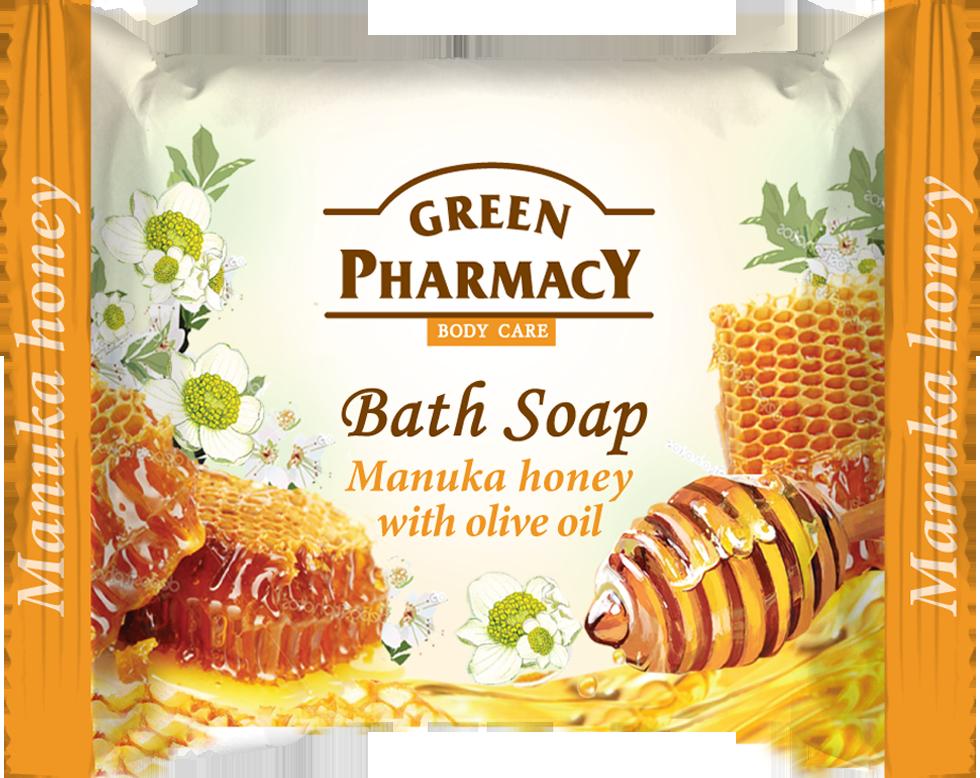 Green Pharmacy Manuka Honey -  toaletné mydlo s manuka medom a olivovým olejom, 100g