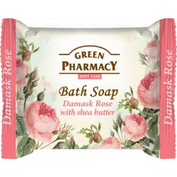 Green Pharmacy Damask Rose with shea butter - toaletní mýdlo s damaškové růží a bambuckým máslem, 100 g