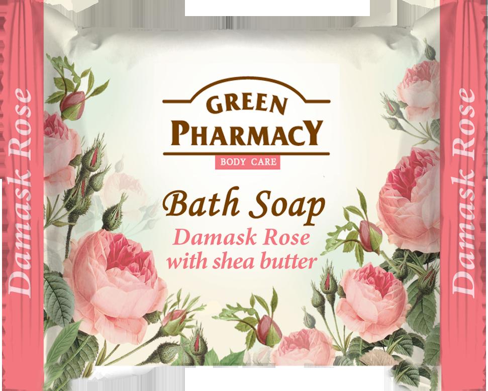 Green Pharmacy Damask Rose with shea butter - toaletné mydlo s damaškovou ružou a bambuckým maslom, 100g
