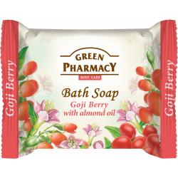 Green Pharmacy Goji berry with sweet almond oil - toaletné mydlo s goji a mandľovým olejom, 100g