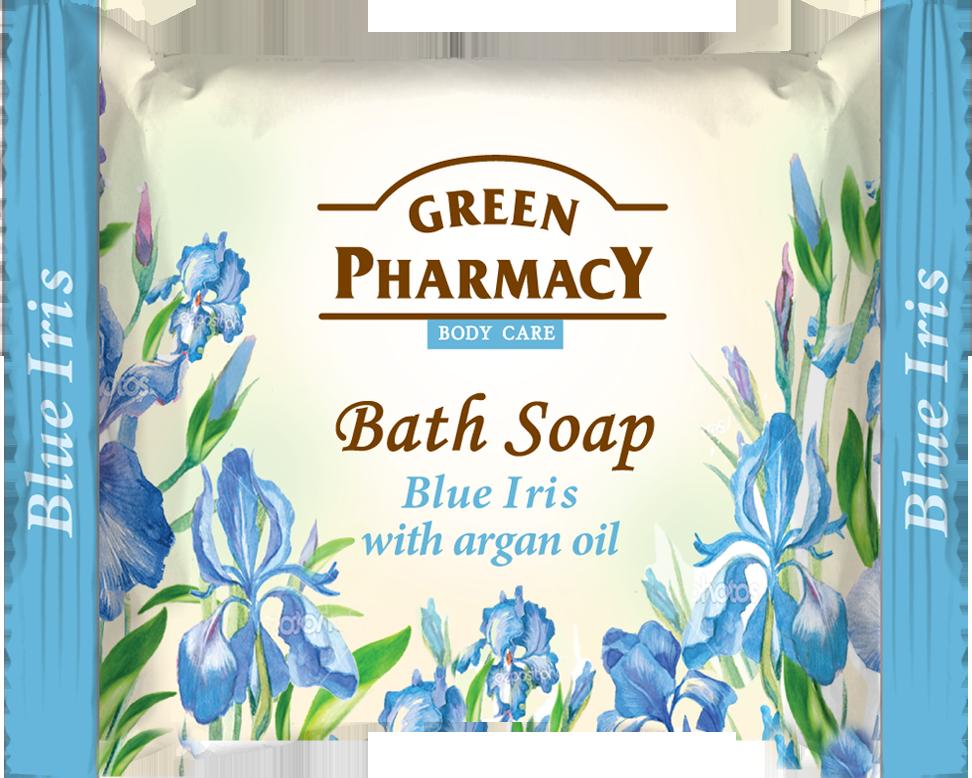 Green Pharmacy Blue Iris with argan oil - toaletní mýdlo s modrým kosatcem a arganového oleje, 100g