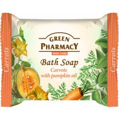 Green Pharmacy Carrot with pumpkin seed oil - toaletní mýdlo s mrkví a dýňovým olejem 100g
