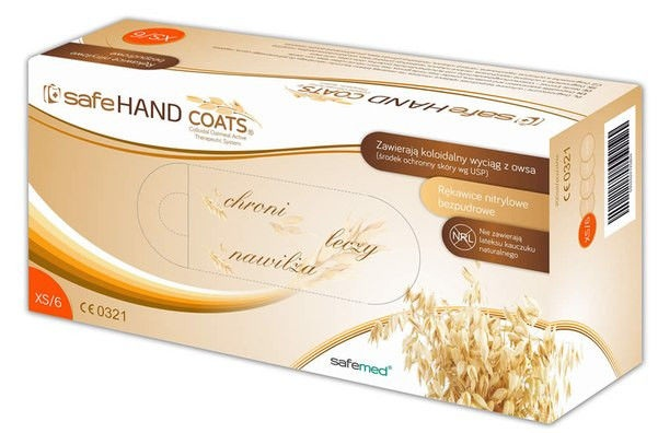 SafeHAND COATS - Nitrilové rukavice s ovsenými výtažky