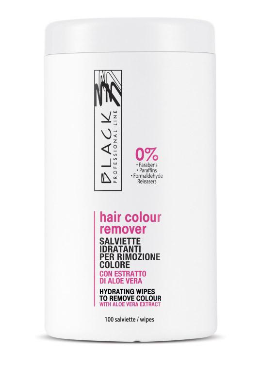 Black Hair Colour Remover - čistící ubrousky, 100 ks