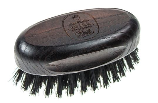 Beard Club Beard and Moustage Brush Small 19376 - oválna kefa na bradu a fúzy, malá