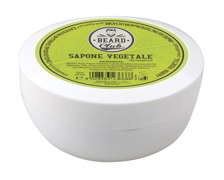 ​Beard Club Vegetable soap - rostlinné mýdlo na holení, 150 ml