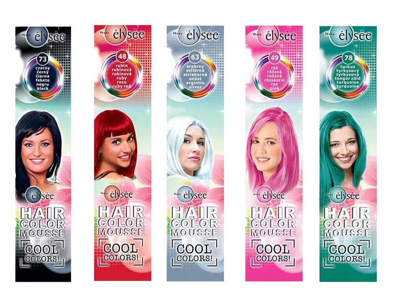 Elysée Color Mousse - farebné penové tužidlá na vlasy