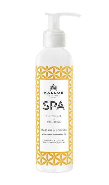 Kallos SPA Brazília Orange Massage and Body oil - masážní a tělový olej, 200 ml