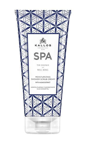 Kallos SPA Moisturizing Shower Scrub cream - peelingový sprchový krém s extraktom z rias, 200 ml