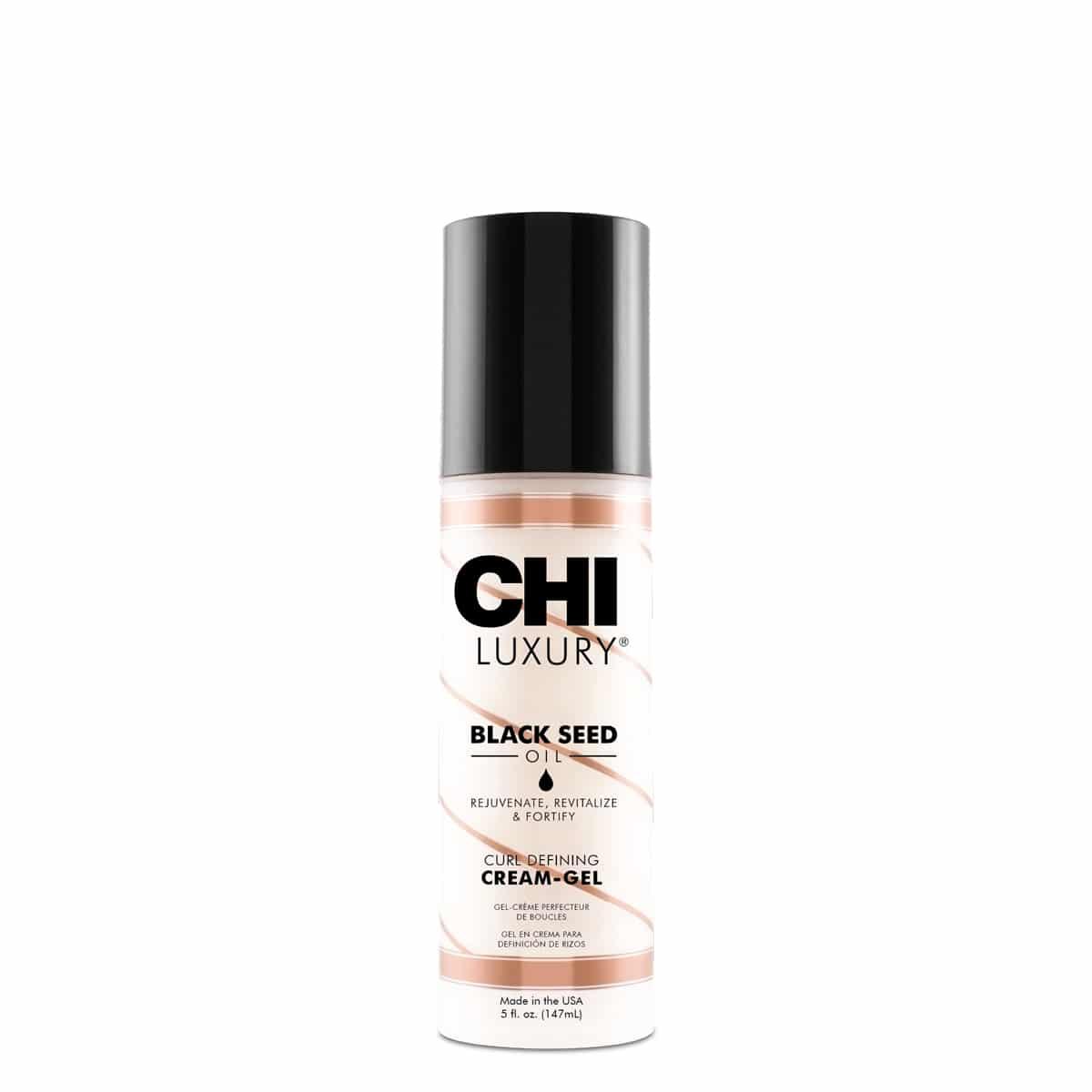 CHI Luxury Black Seed Oil Curl Defining Cream Gel - tužiaci tvarovací krémový gél na kučeravé vlasy, 148 ml