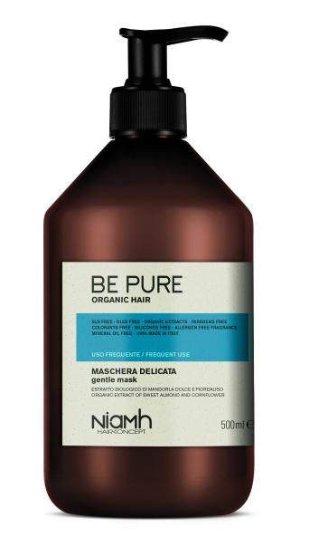 Niamh Hairkoncept Be Pure Gentle Mask - maska pro každodenní péči o vlasy, 500 ml