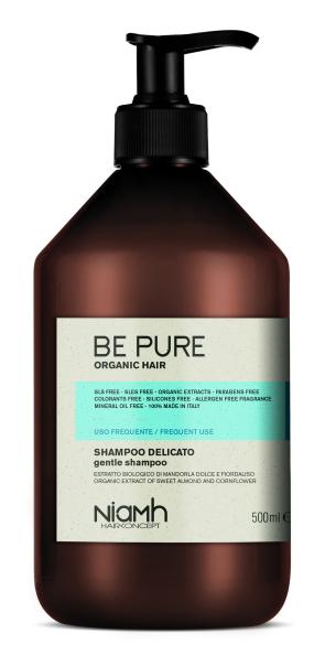 Niamh Hairkoncept Be Pure Gentle Shampoo -  šampon pro každodenní péči o vlasy, 500 ml