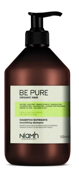 Niamh Hairkoncept Be Pure Nourishing Shampoo - výživný šampón na vlasy, 500 ml