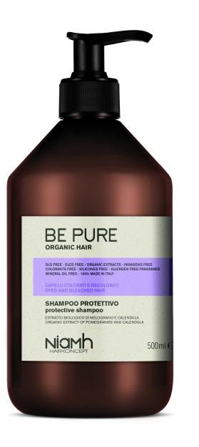 Niamh Hairkoncept Be Pure Protective Shampoo - ochranný šampon na vlasy, 500 ml