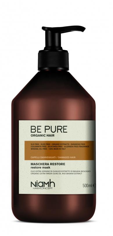 Niamh Hairkoncept Be Pure Restore Mask - obnovující maska na vlasy, 500 ml