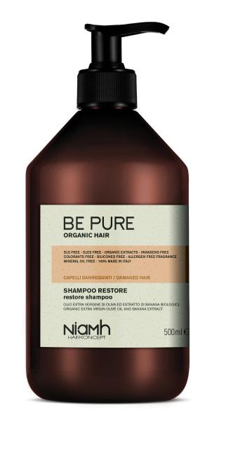 Niamh Hairkoncept Be Pure Restore Shampoo - obnovující šampon na vlasy, 500 ml