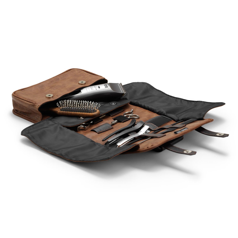 Stylists mini case, brown 9132 - profesionálne púzdro na kadernícke potreby, hnedé