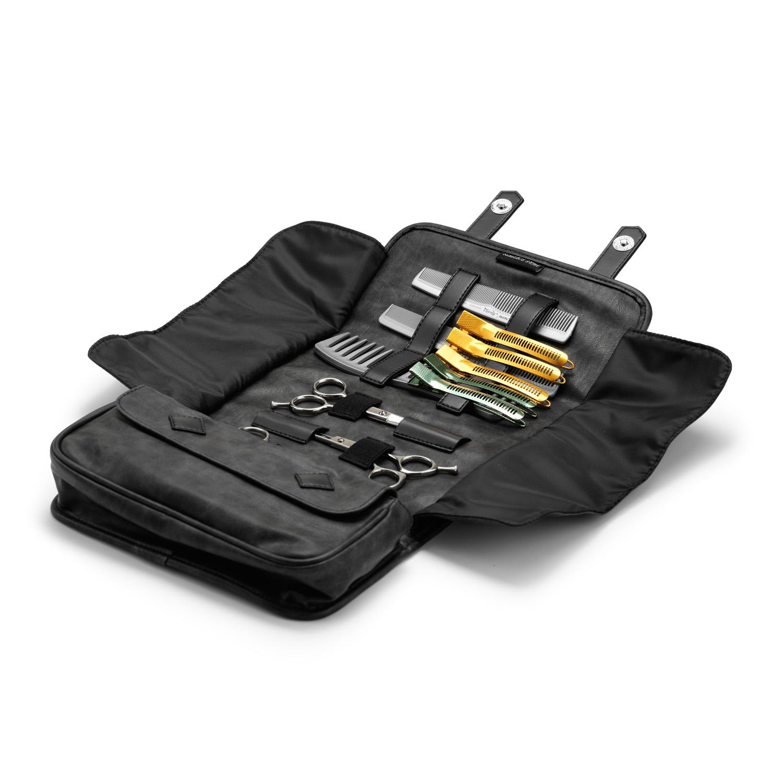 Stylists mini case, vintage black 9133 - profesionálne púzdro na kadernícke potreby, čierne