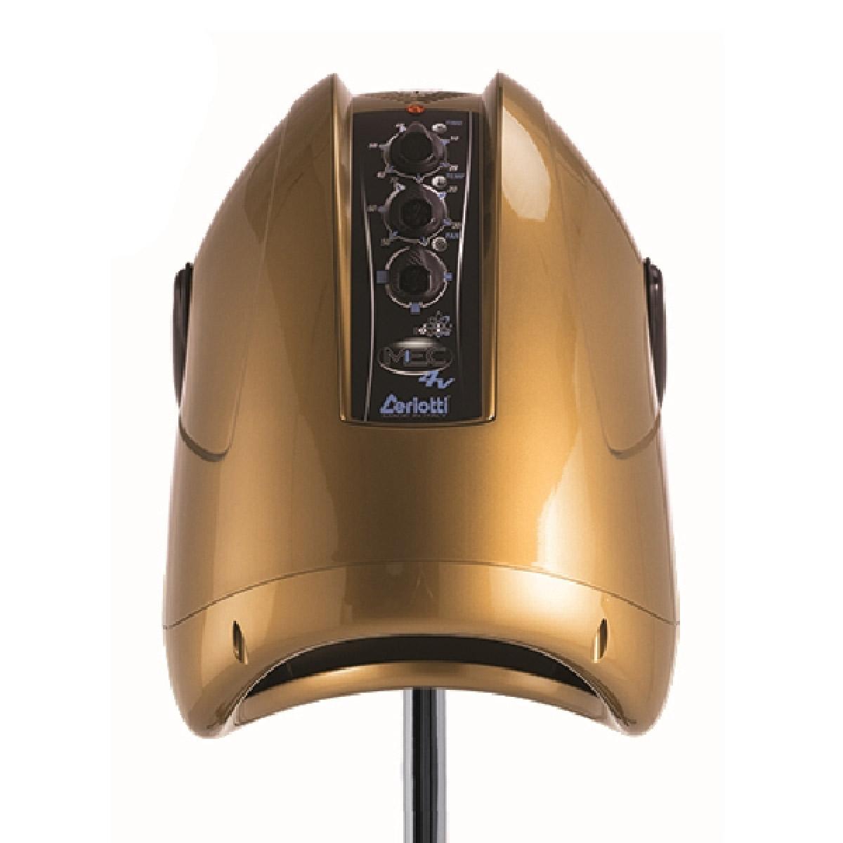 Ceriotti MEC 4 Speed Gold - sušící helma - 4 - rychlostní, na stojanu, zlatá