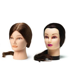 Cvičné hlavy s přírodními vlasy