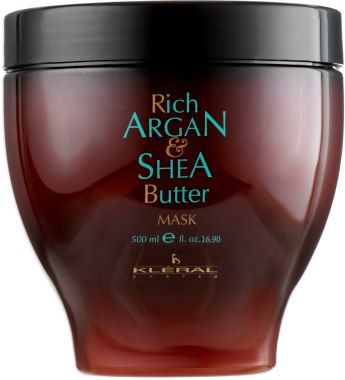 Kléral Rich Argan Shea Butter mask - hydratační maska, 500 ml