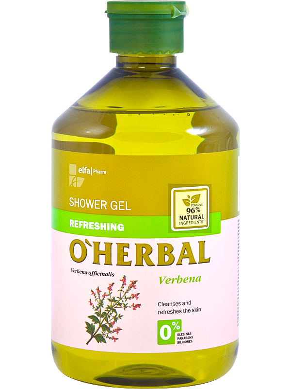 ​O'Herbal Refreshing shower gel with verbena extract - osvěžující sprchový gel s extraktem verbeny, 500 ml