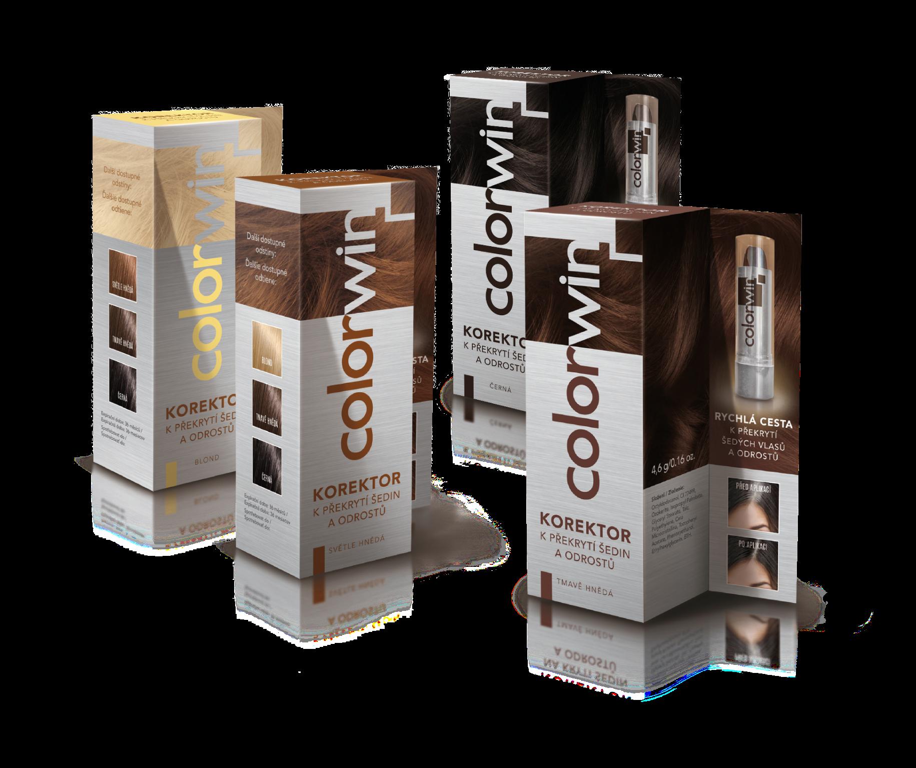 Colorwin Korektor - na krytí šedivých vlasů a odrostů, 4,6 g