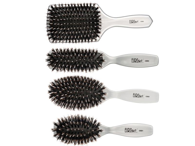 Eurostil Brush Boar Bristles - kefy na predlžované vlasy, diviačie štetiny