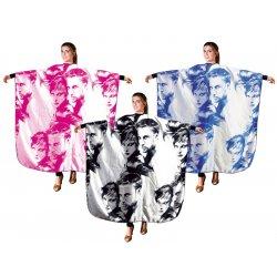 Eurostil Cape Faces 2000 - kadernícka pláštenka na strihanie, farbenie, suchý zips