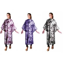 Eurostil Bordeaux Color Coat Cutting Cape - kadeřnická pláštěnka na stříhání, barvení, suchý zip