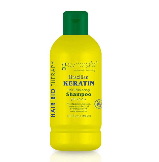 (EXP: 01/2021) G-synergie Brazilian Keratin shampoo - uhlazující šampon, 300 ml