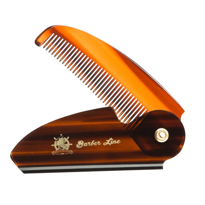 Barber Line Beard - Moustache Folding Acetate Comb 04545 - profesionálny skladací hrebeň na bradu a fúzy
