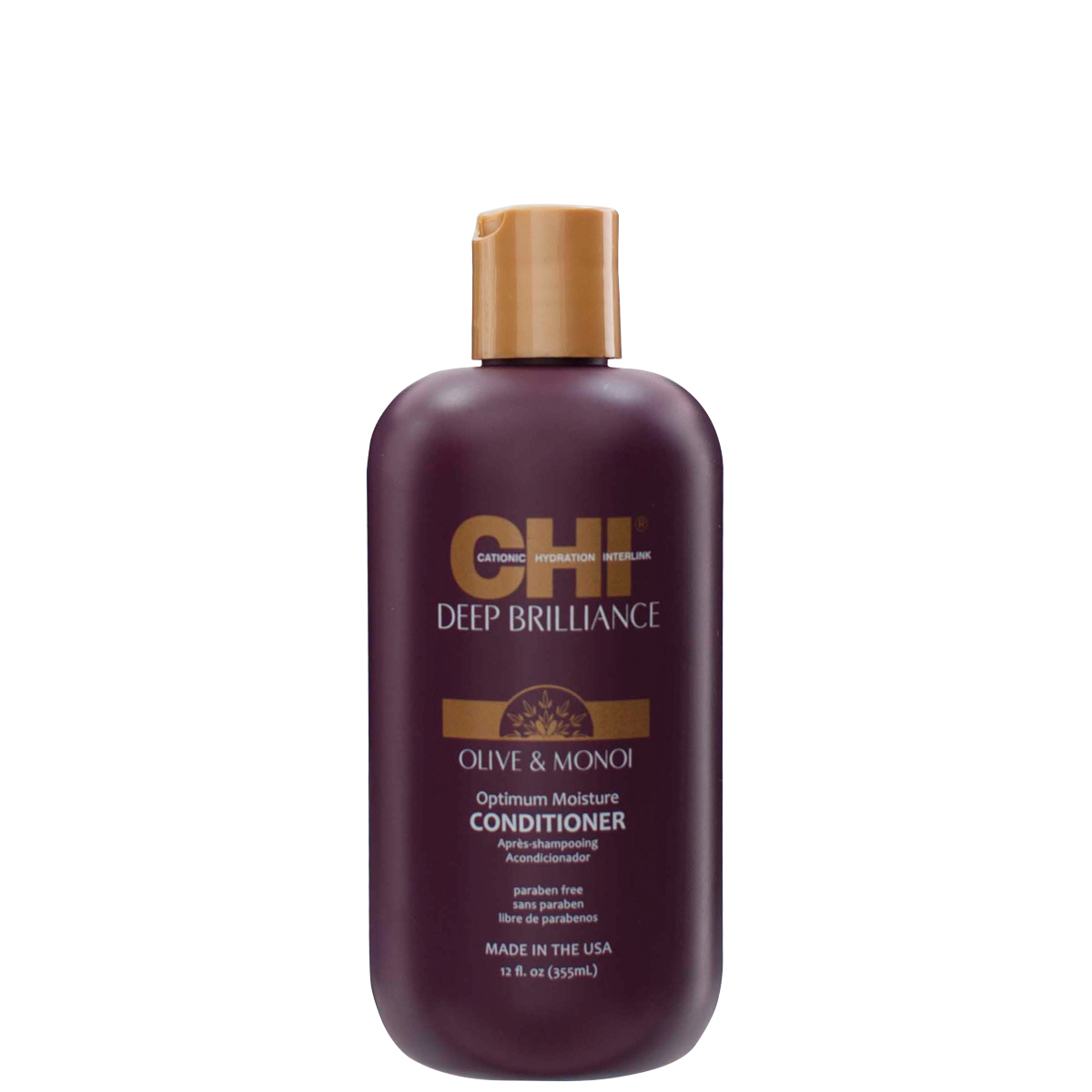 CHI Deep Brilliance Olive & Monoi Optimum Moisture Conditioner - optimálne hydratačný kondicionér, 355 ml