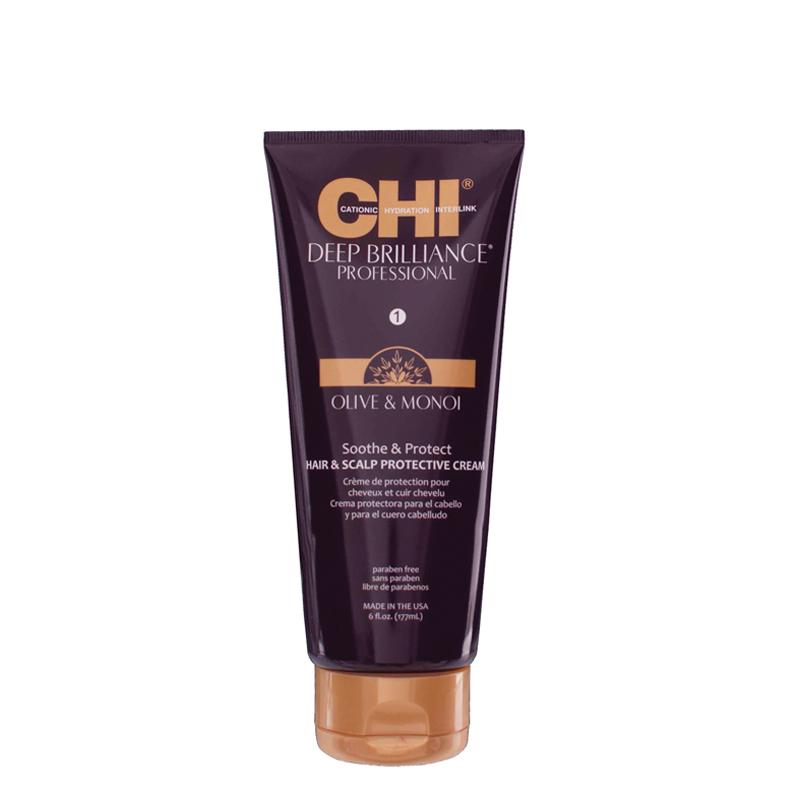 CHI Deep Brilliance Olive & Monoi Soothe & Protect - krém pro uklidnění a ochranu, 177 ml