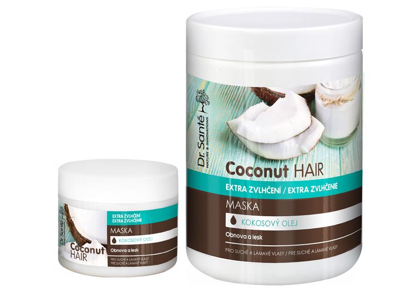 Dr. Santé Coconut Hair Mask - maska na vlasy s výtažky kokosu pro suché a lámavé vlasy
