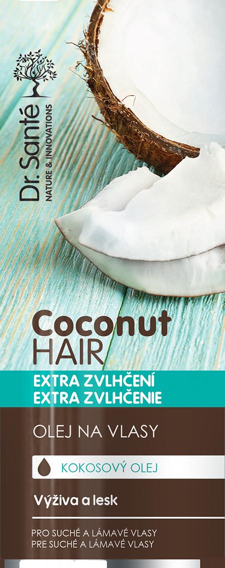 Dr. Santé Coconut Hair Oil - olej na vlasy s výtažky kokosu pro suché a lámavé vlasy, 50 ml