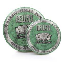 REUZEL Green Pomade Grease - pomáda na báze včelieho vosku pre pevný styling
