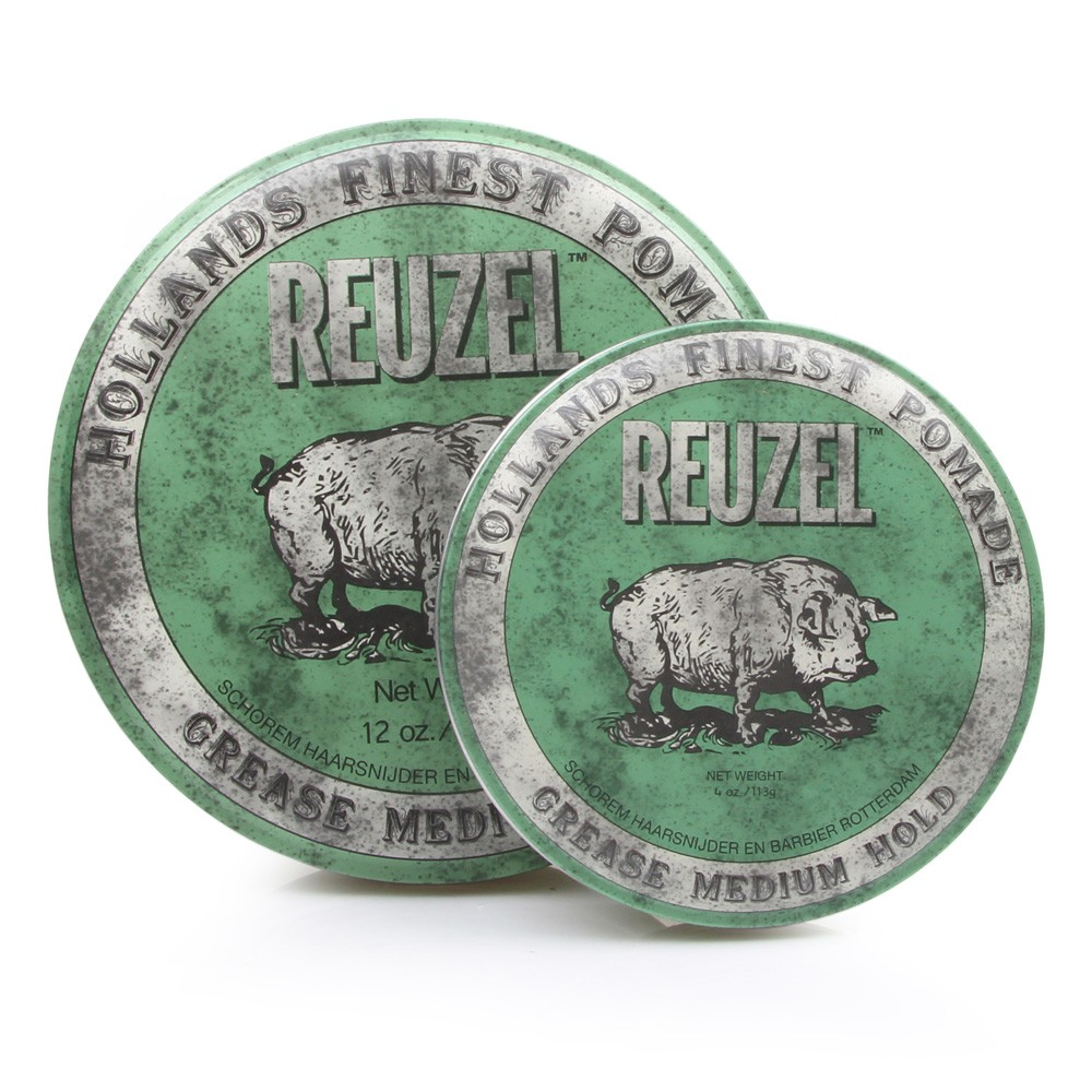 REUZEL Green Pomade Grease - pomáda na bázi včelího vosku pro pevný styling